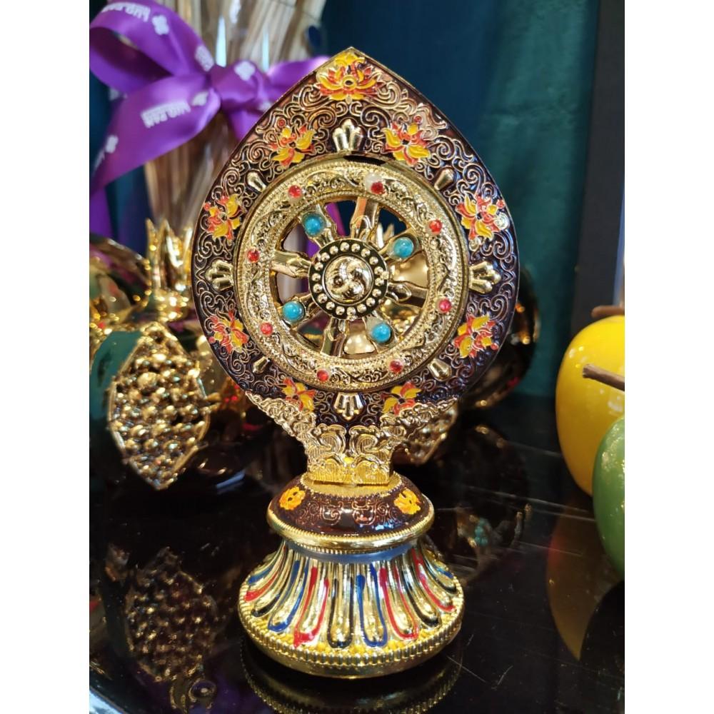 Статуэтка с колесом фортуны цветная маленькая