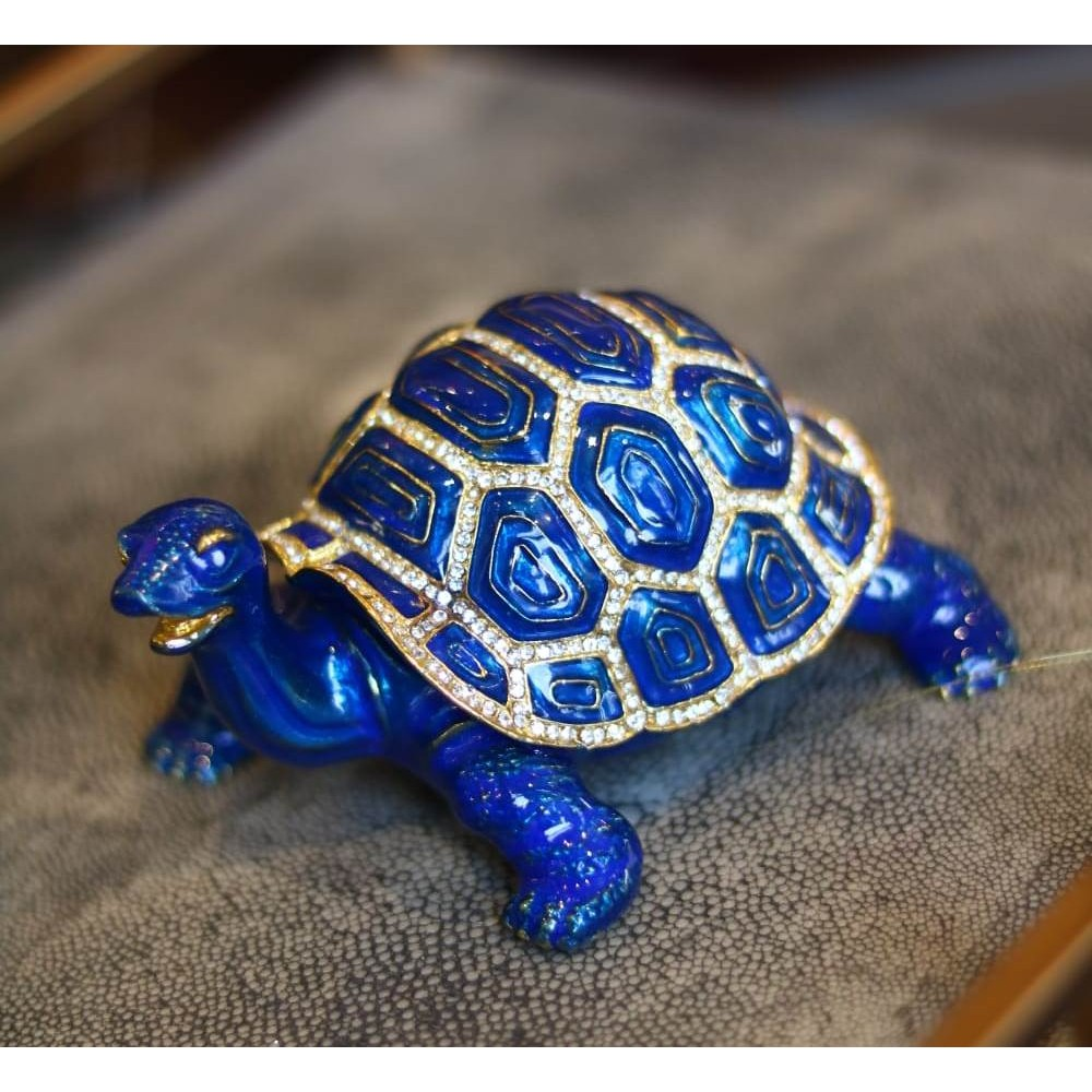 Статуэтка черепашка синяя