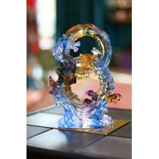 Статуэтка Восьмерка с Драконом и Фениксом, стекло