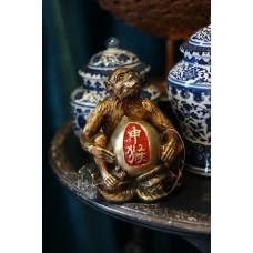 Статуэтка Обезьяна с персиком бронза