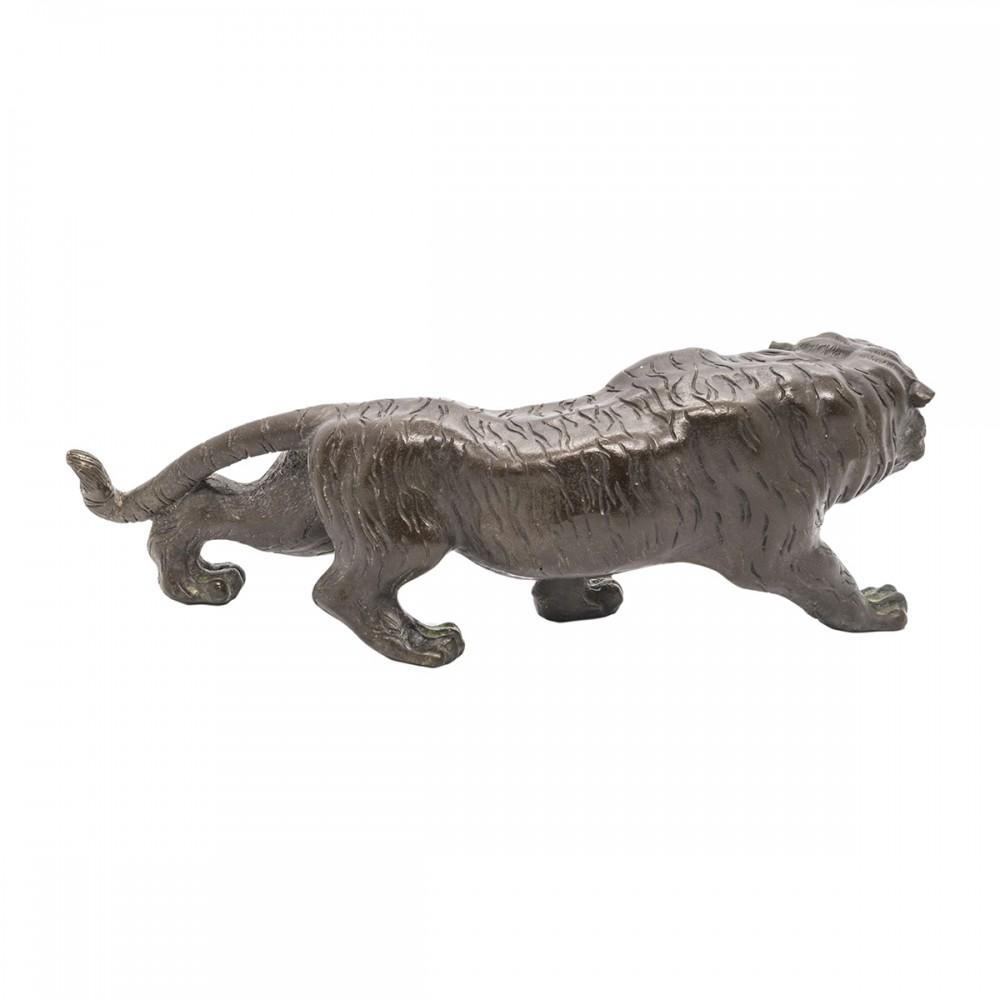 Статуэтка Тигр черная бронза