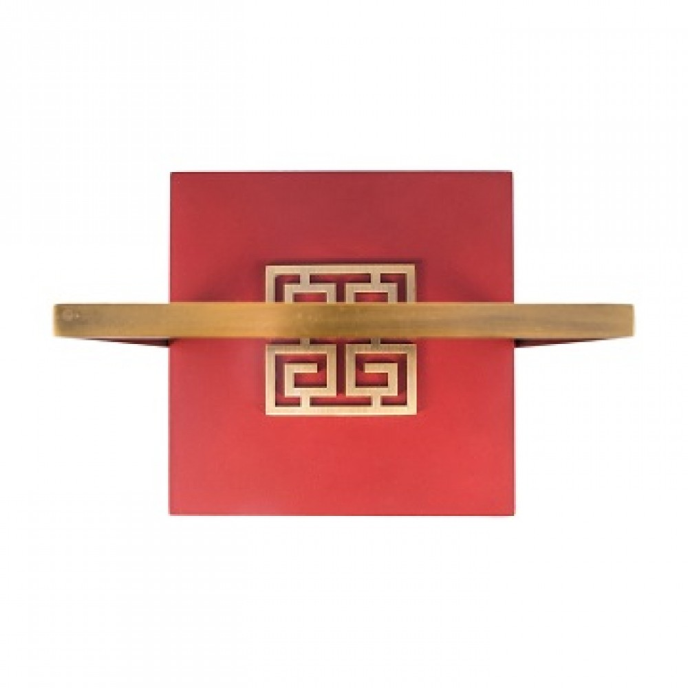 Шкатулка декоротивная квадратная, темно-красная