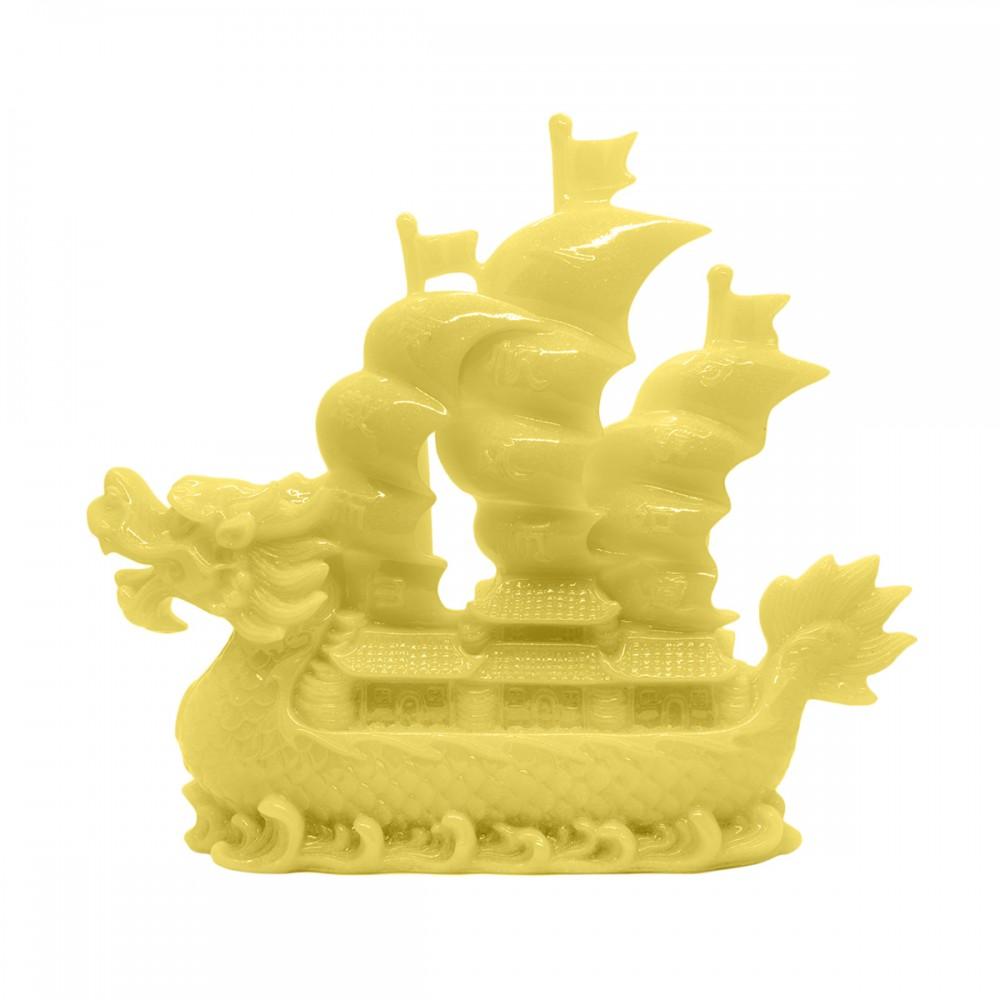Статуэтка Корабль дракон бежевый большой