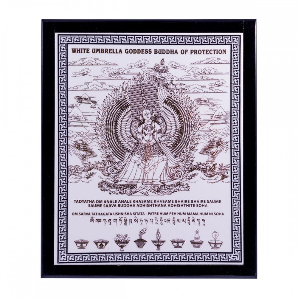 Табличка с Богиней Белого Зонтика защитит ваш дом от негатива