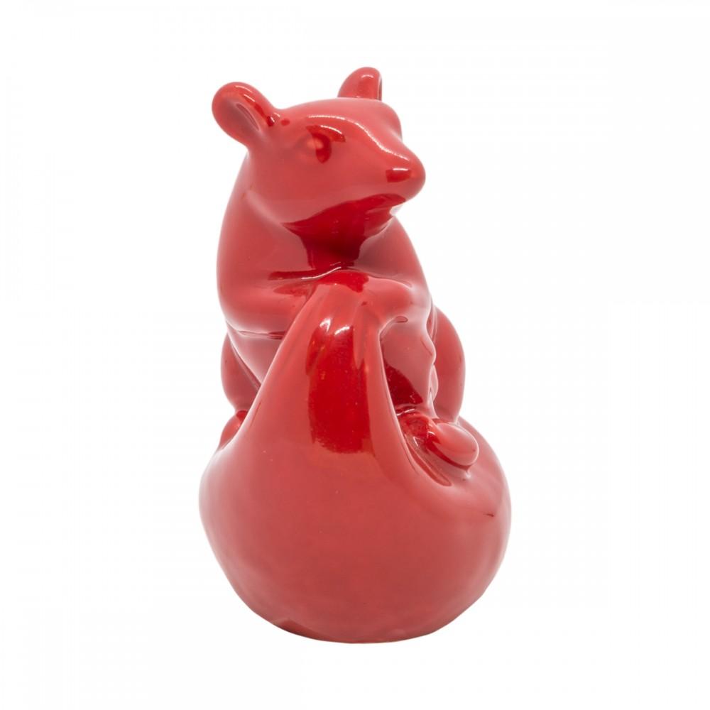 Статуэтка Крыса красная маленькая