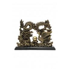 Статуэтка дракон и феникс смола