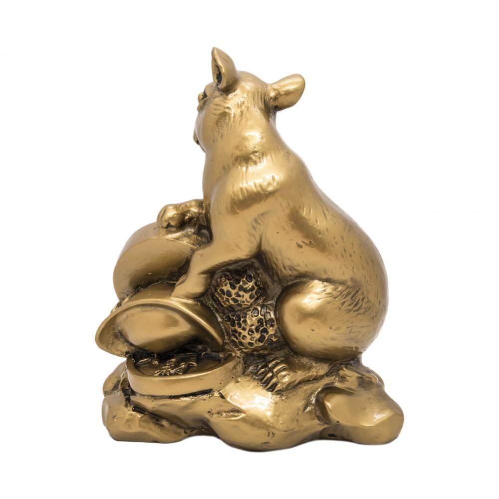Крыса с монетой - символ богатства