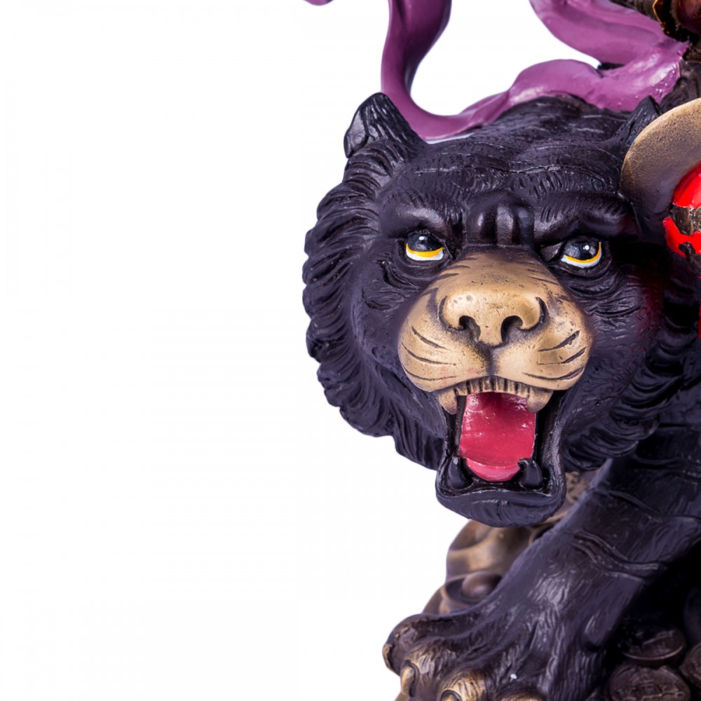 Цай-Шень на тигре - бог богатства