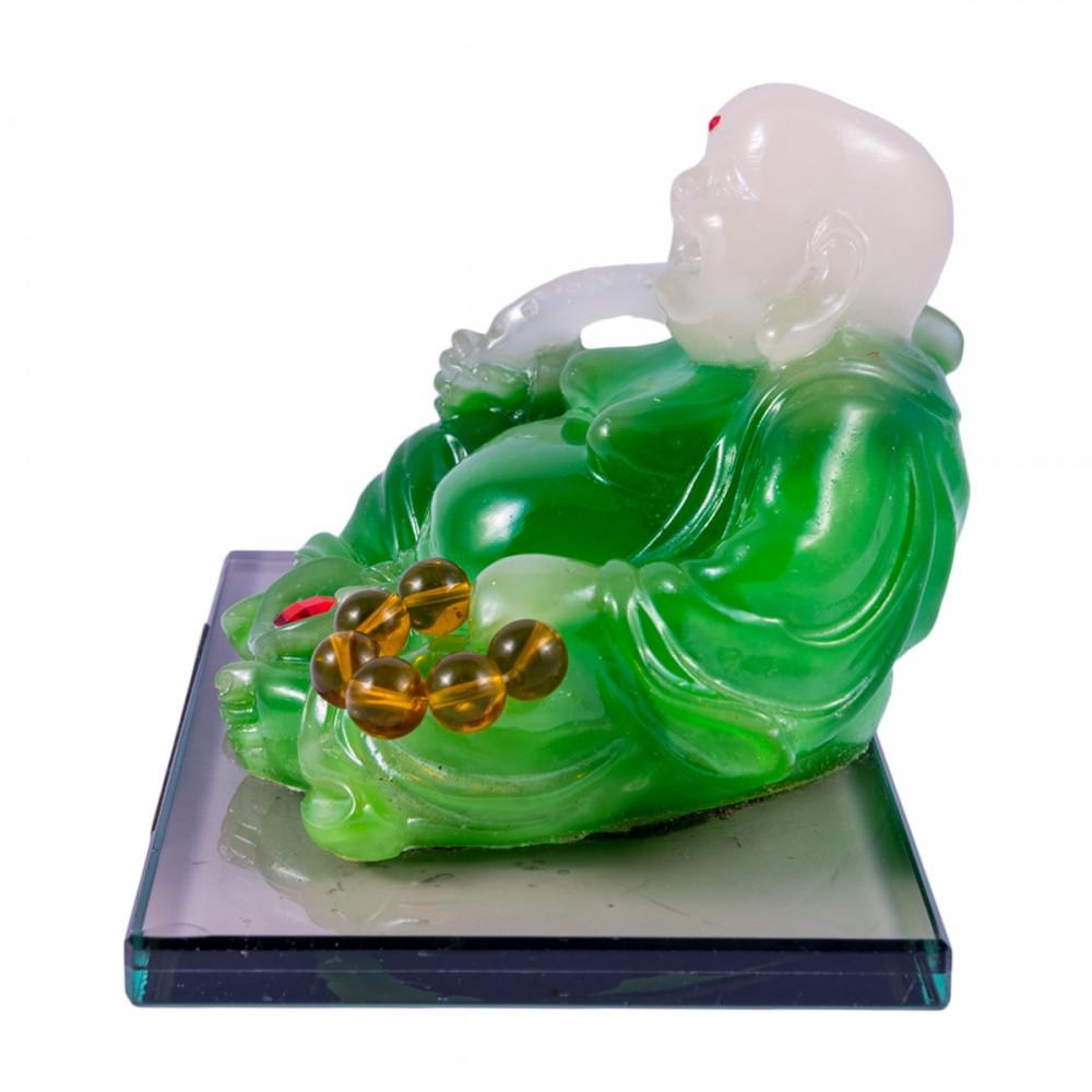 Статуэтка Хоттей зеленый сидящий