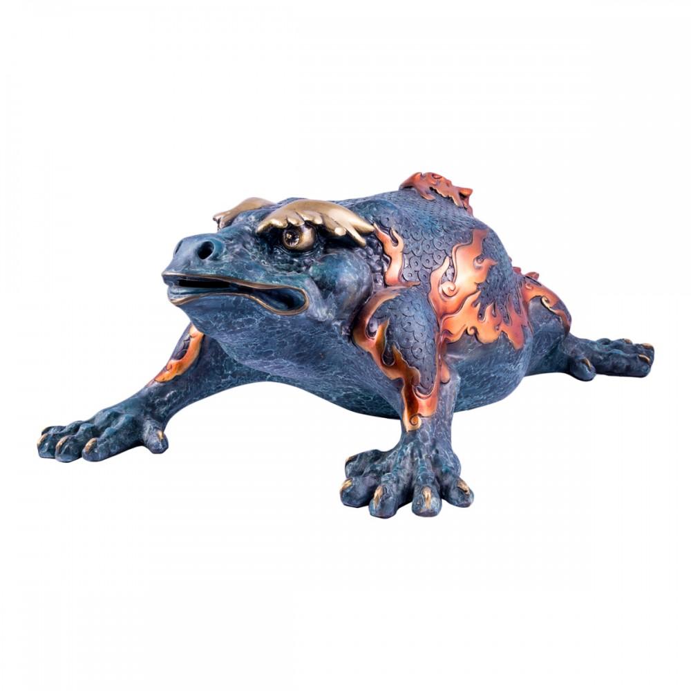Статуэтка Трехлапая жаба синяя