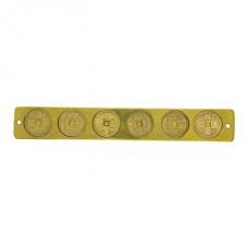 Подвеска 6 золотых монет