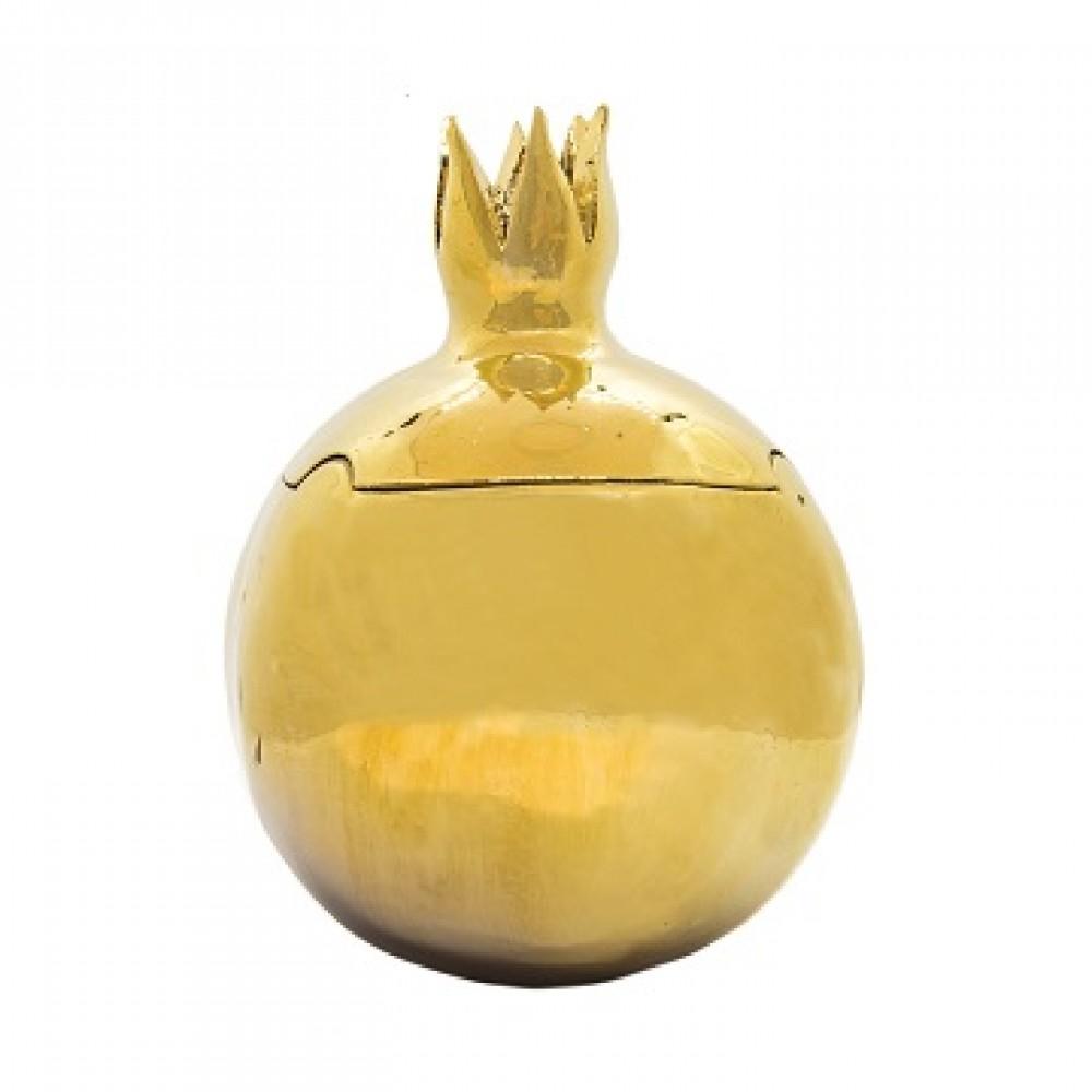 Статуэтка Гранаты золото,закрытый с зернами, с крышечкой большой