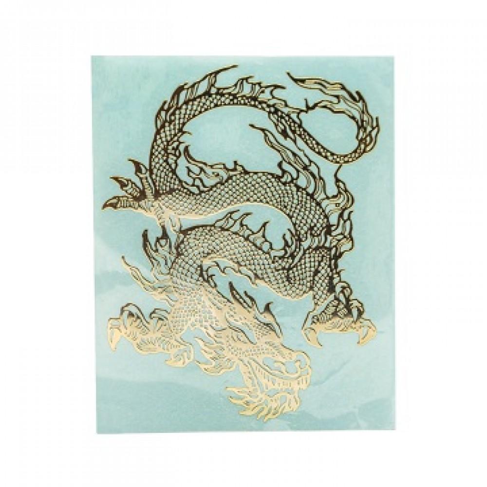 Наклейка с извивающимся драконом