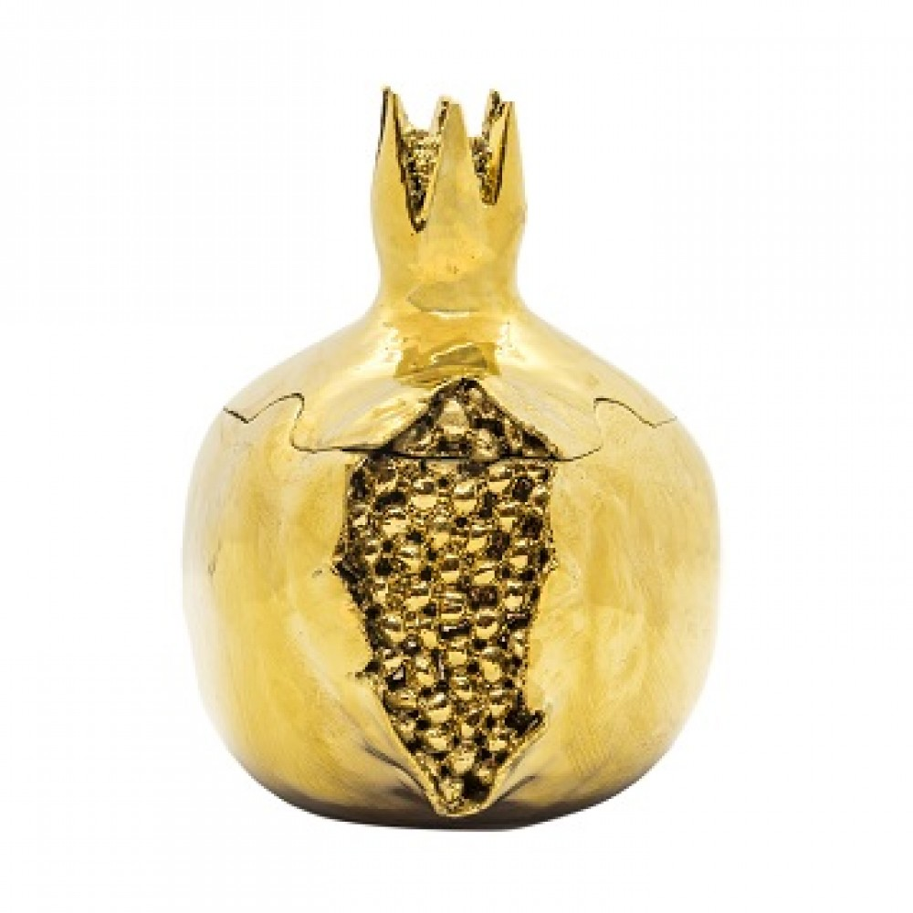 Статуэтка Гранаты золото,закрытый с зернами, с крышечкой средний