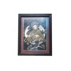 Картина Гуру Ринпоче чёрная
