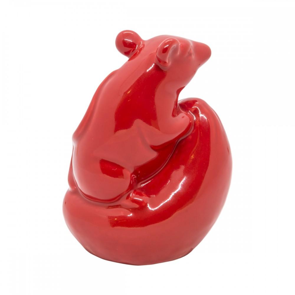 Статуэтка Крыса красная средняя