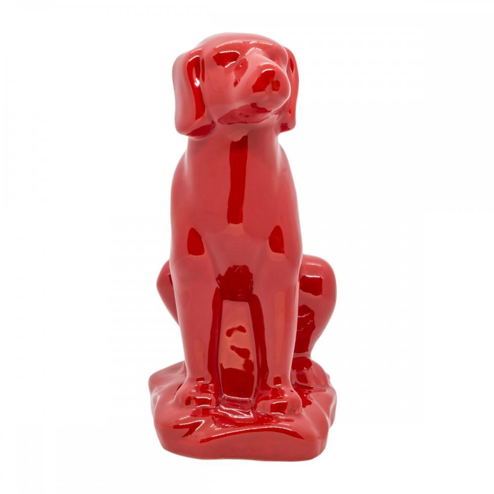 Статуэтка Собака красная средняя