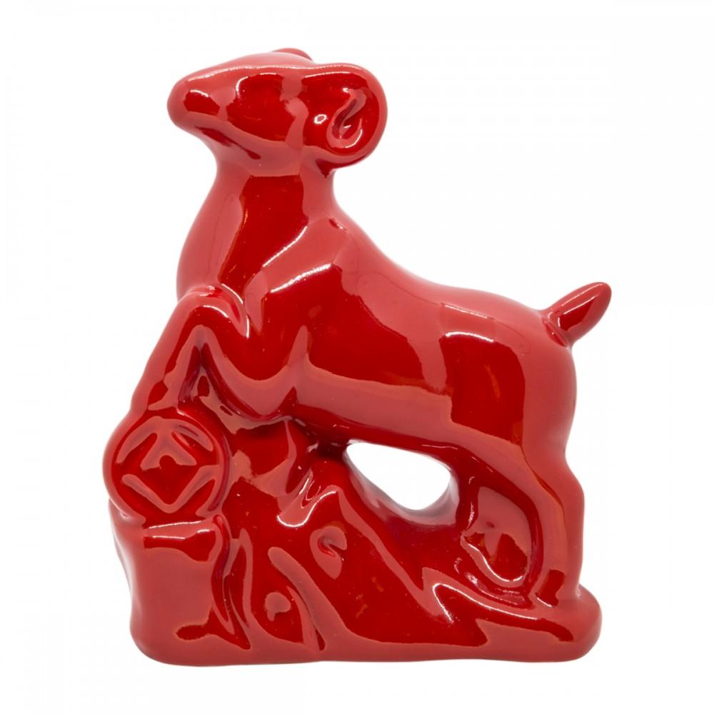Статуэтка Коза красная средняя
