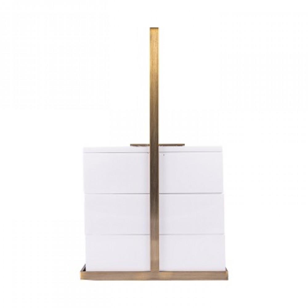 Шкатулка декоротивная квадратная, белая
