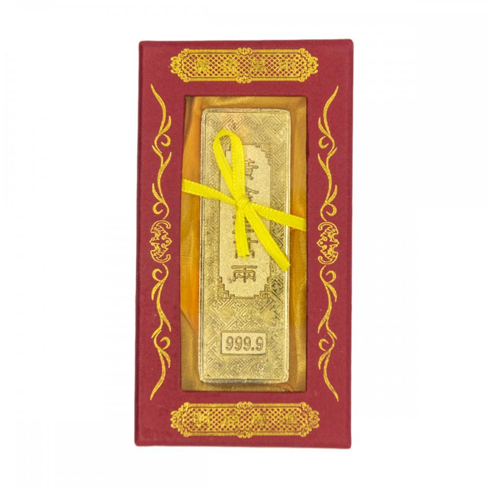 Золотой слиток в коробке