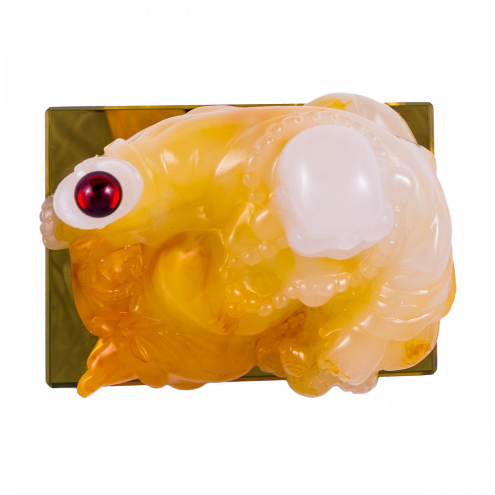 Статуэтка Хоттей желтый лежащий