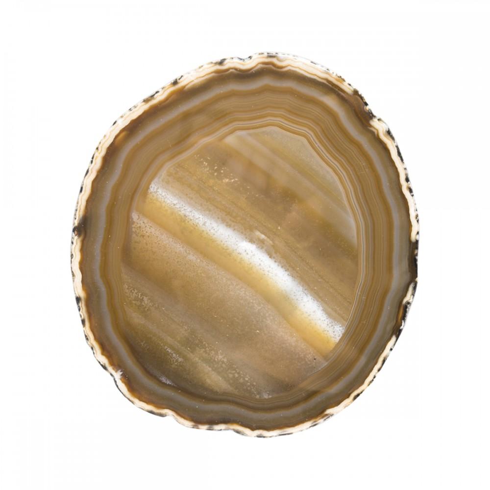Камень натуральный Агат, коричневый