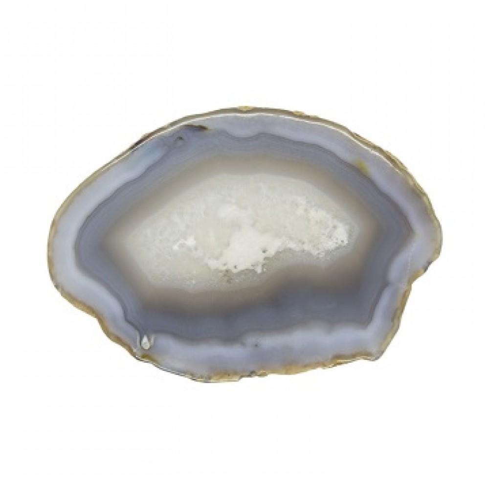 Камень натуральный Агат серо-коричневый