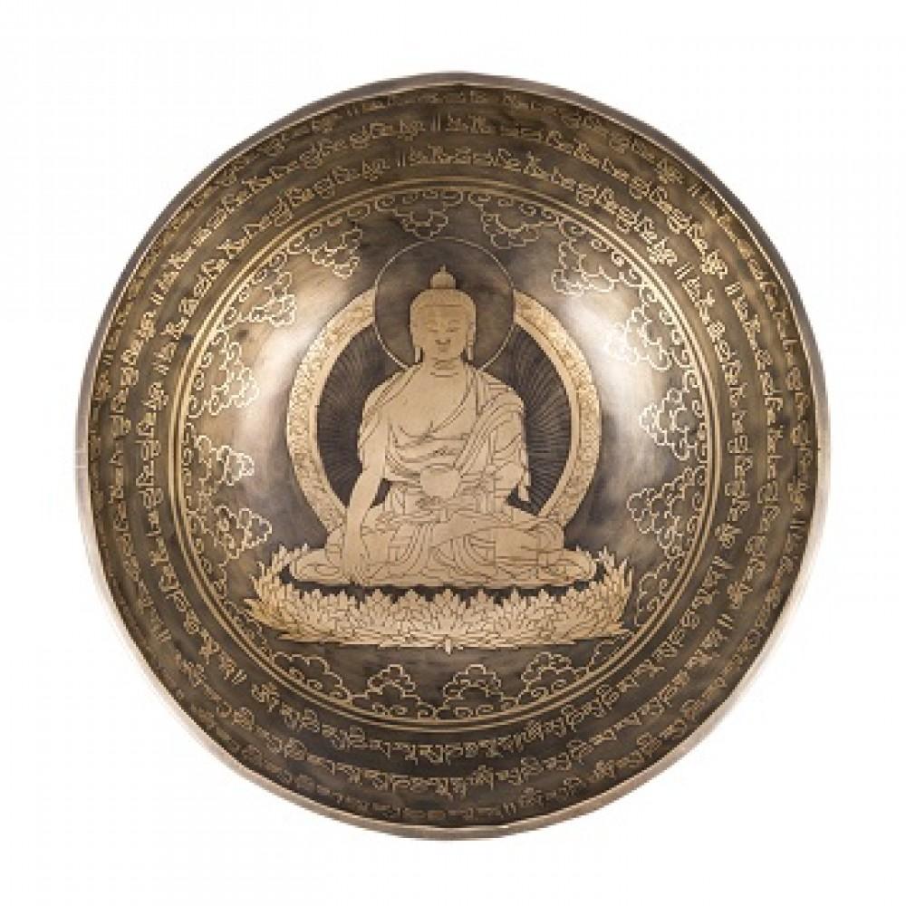 Поющие чаши с Буддой медицины из Непала средний 31см