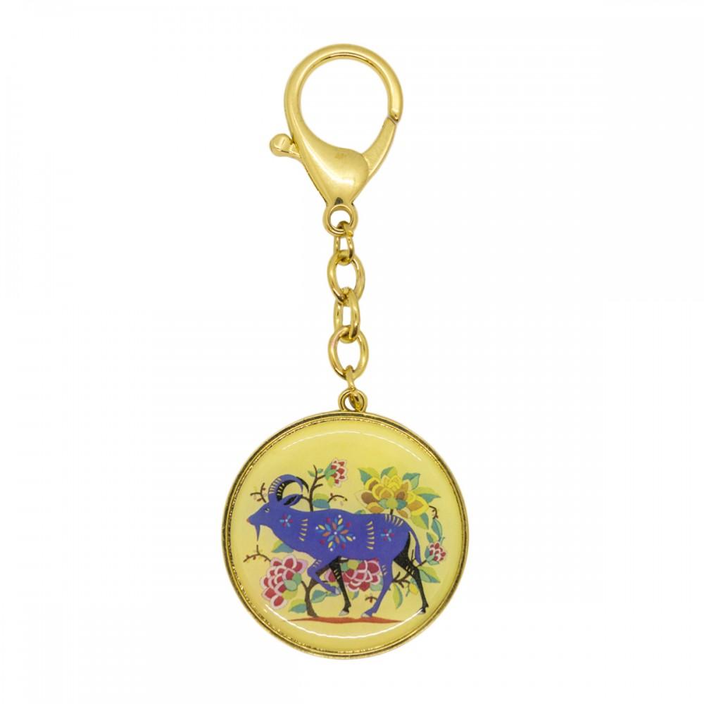 Брелок 12 животных с козой, зеркало