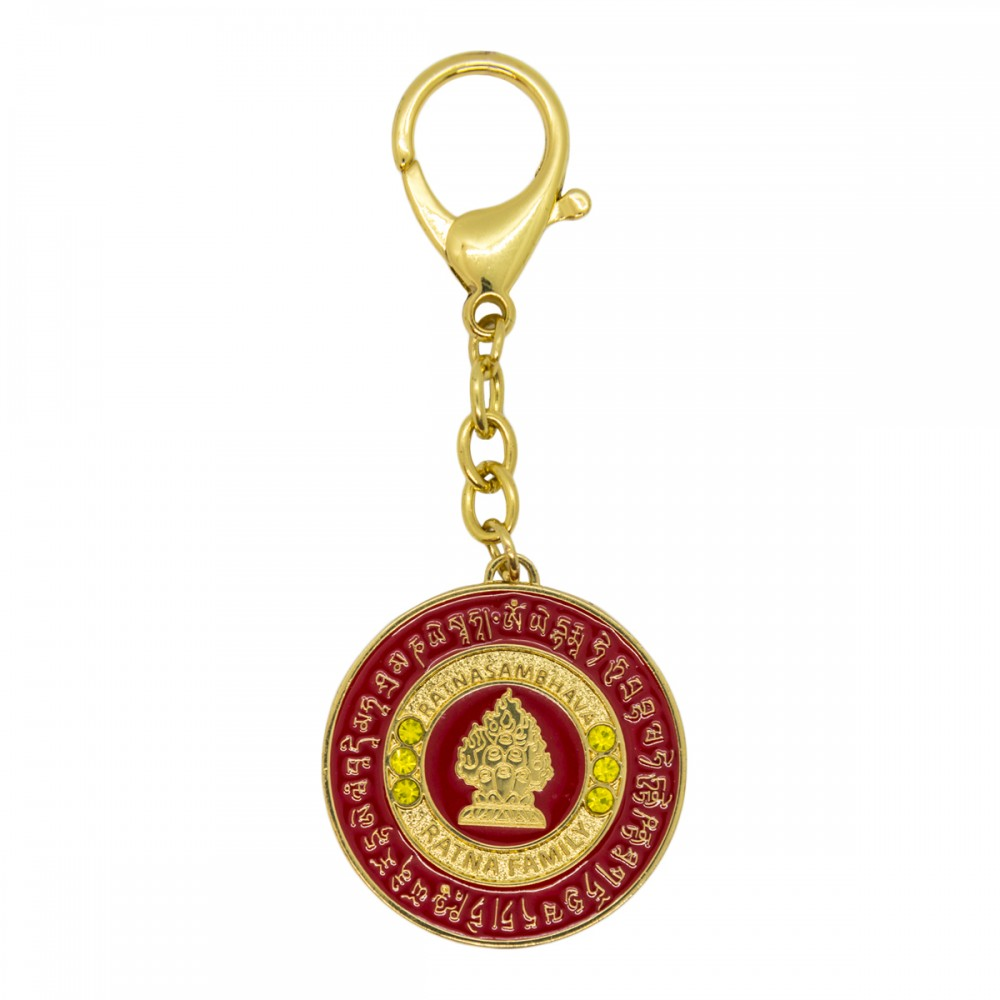 Брелок Ратнамсабхава Будда в красном фоне