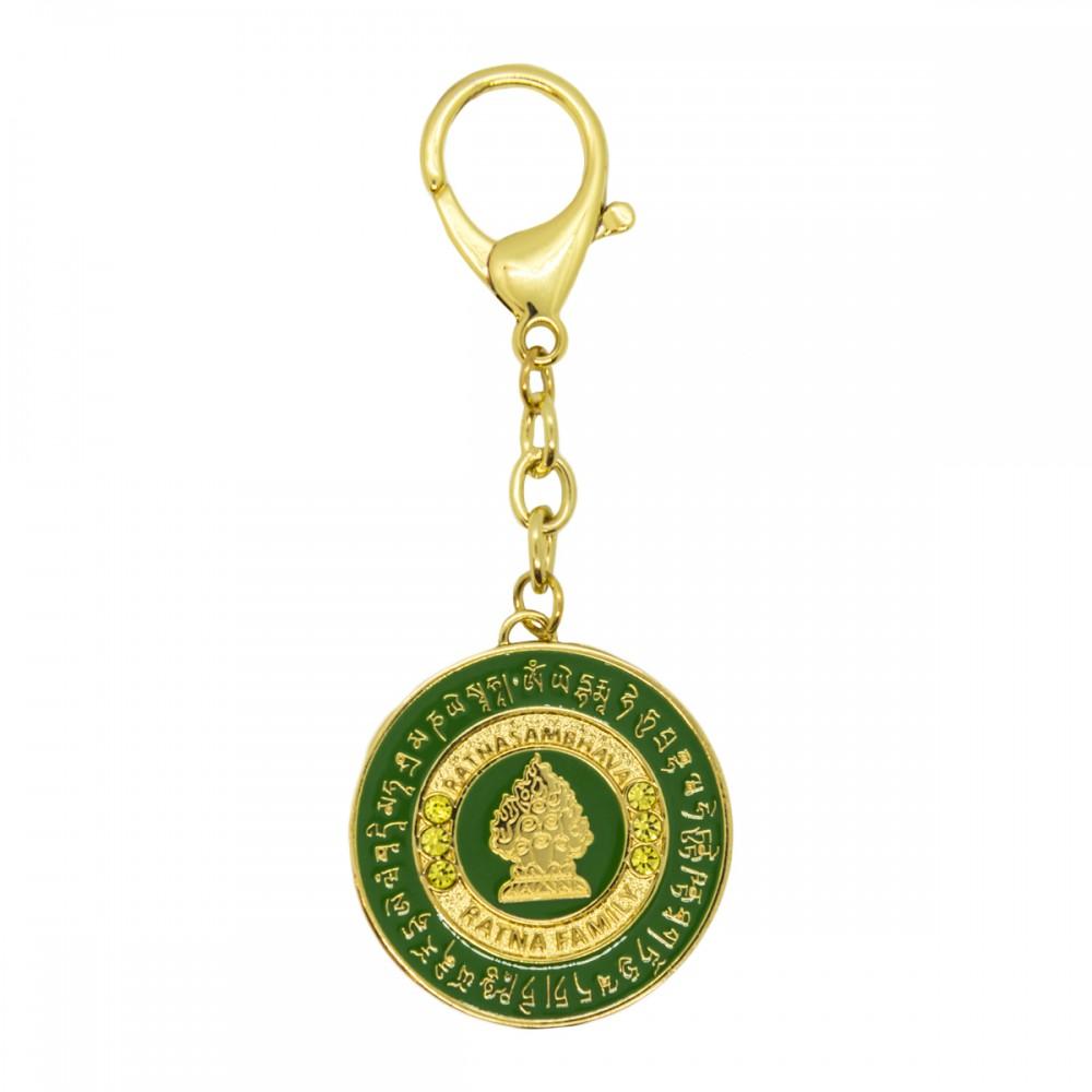 Брелок Ратнамсабхава Будда в зеленом фоне