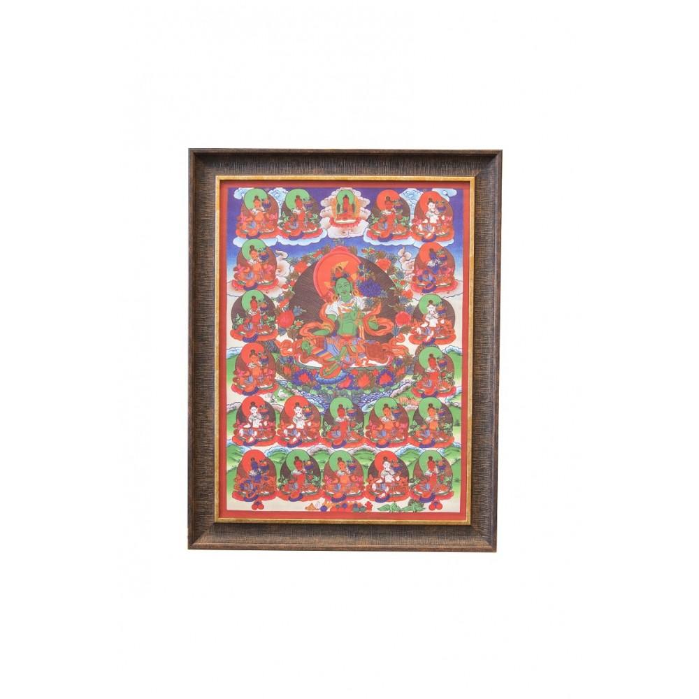 Картина 21 тара в коричневой рамке