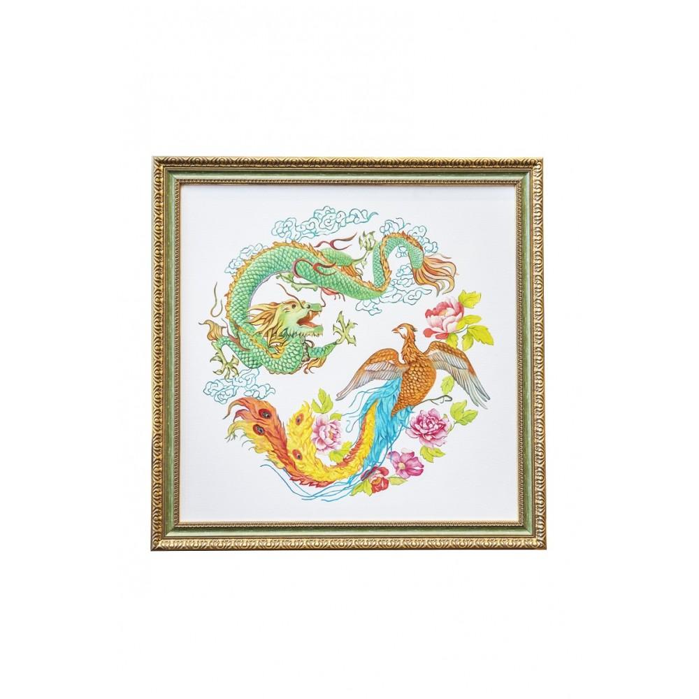 Картина Дракон и феникс