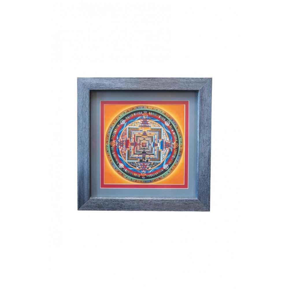 Картина Калачакра оранжево-серая