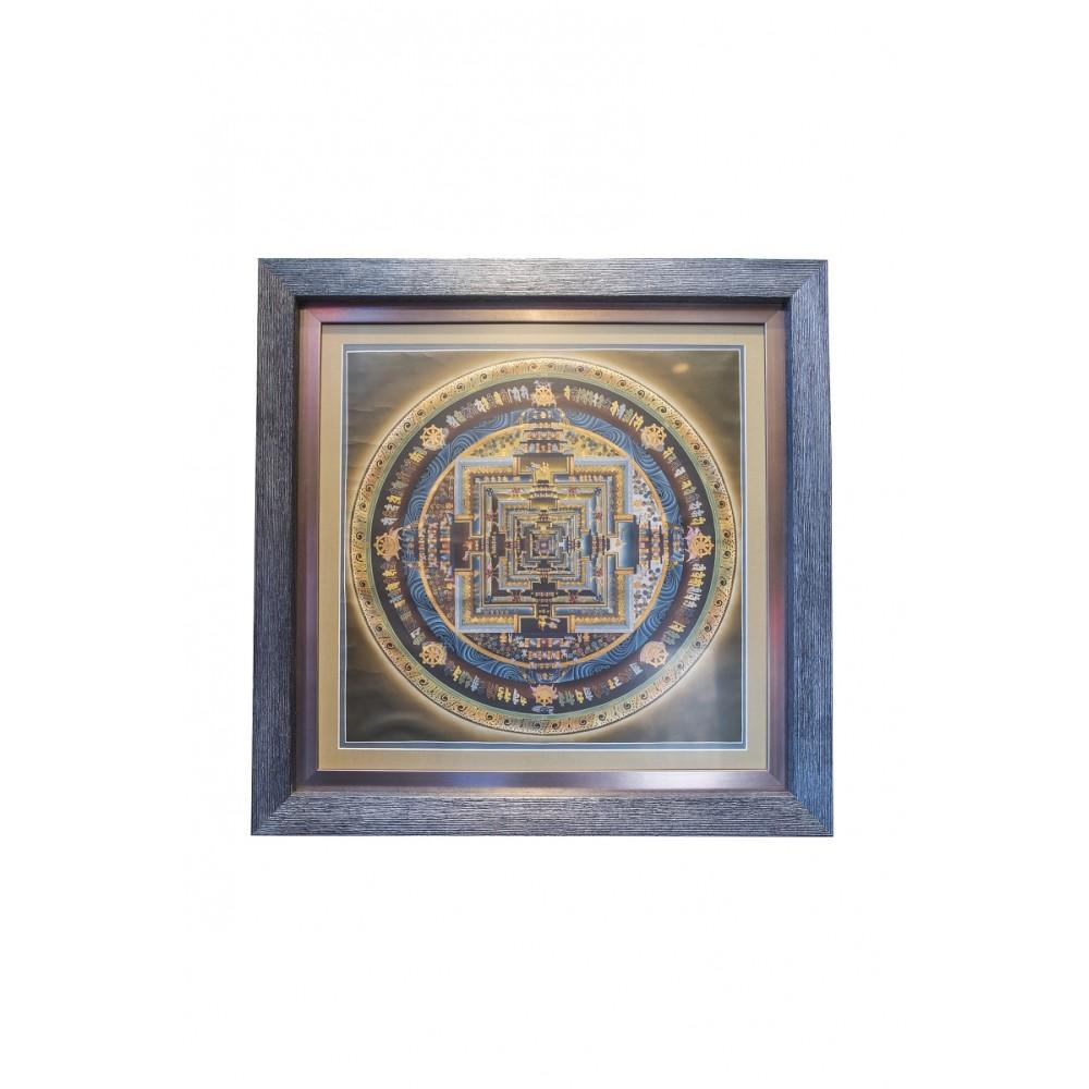 Картина Калачакра серая паспарту большая