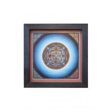 Картина калачакра сине-голубая