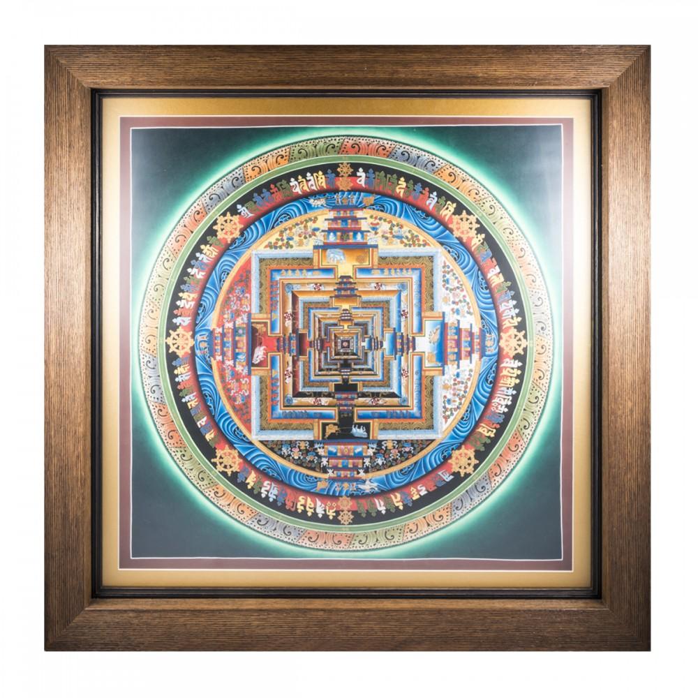 Картина Калачакра золото паспарту большая