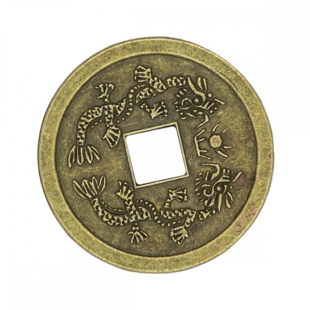 Монета с парой драконов