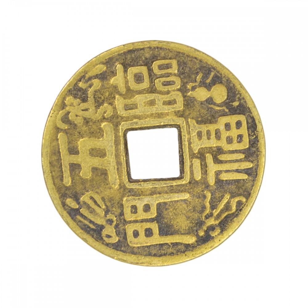 Монета со знаком богатство