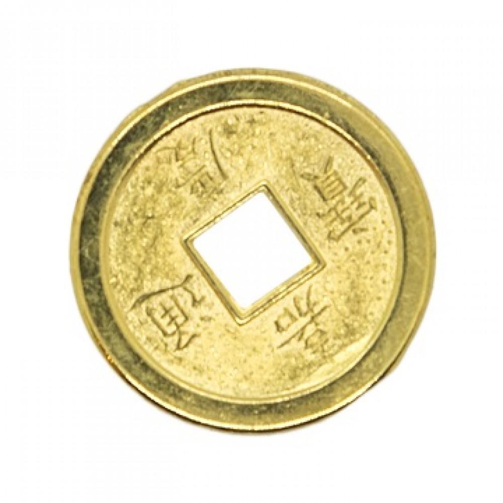 Монета со знаком богатство, золото