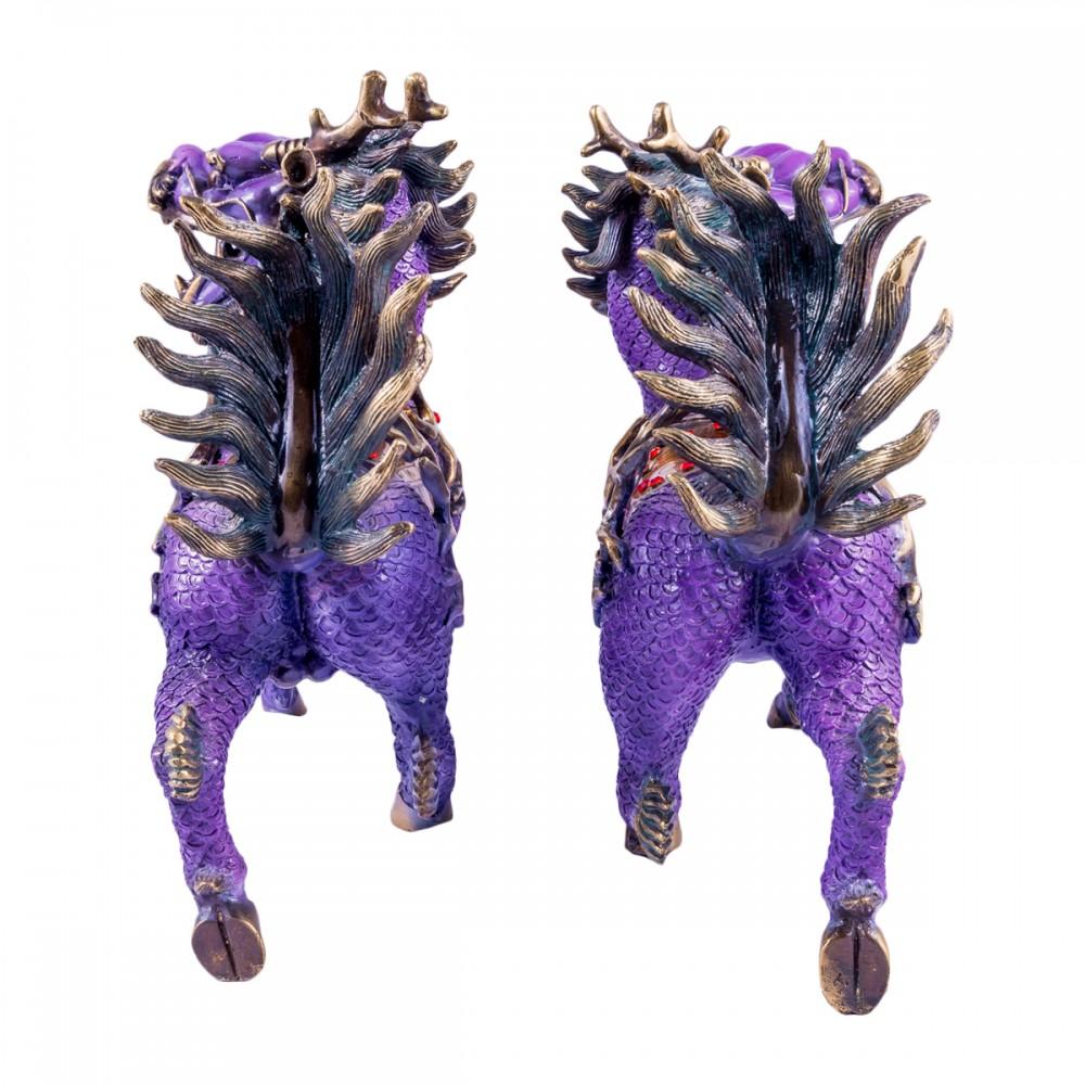 Статуэтка Цилини пара бронза, фиолетовые