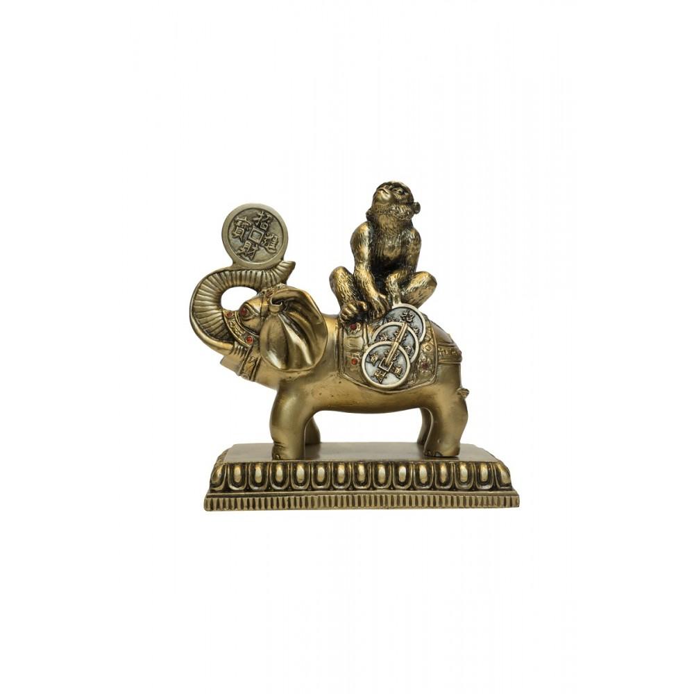 Статуэтка Обезьяна на слоне смола