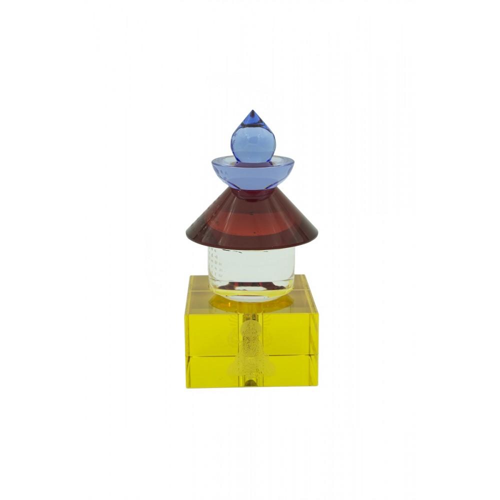 Статуэтка Пагода цветная стеклянная маленькая