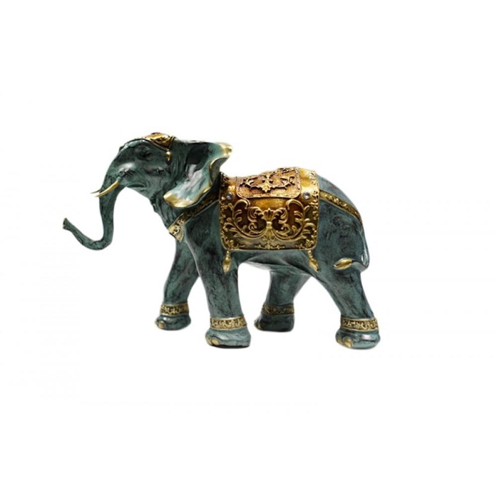 Статуэтка Слон и слон на шаре, голубые