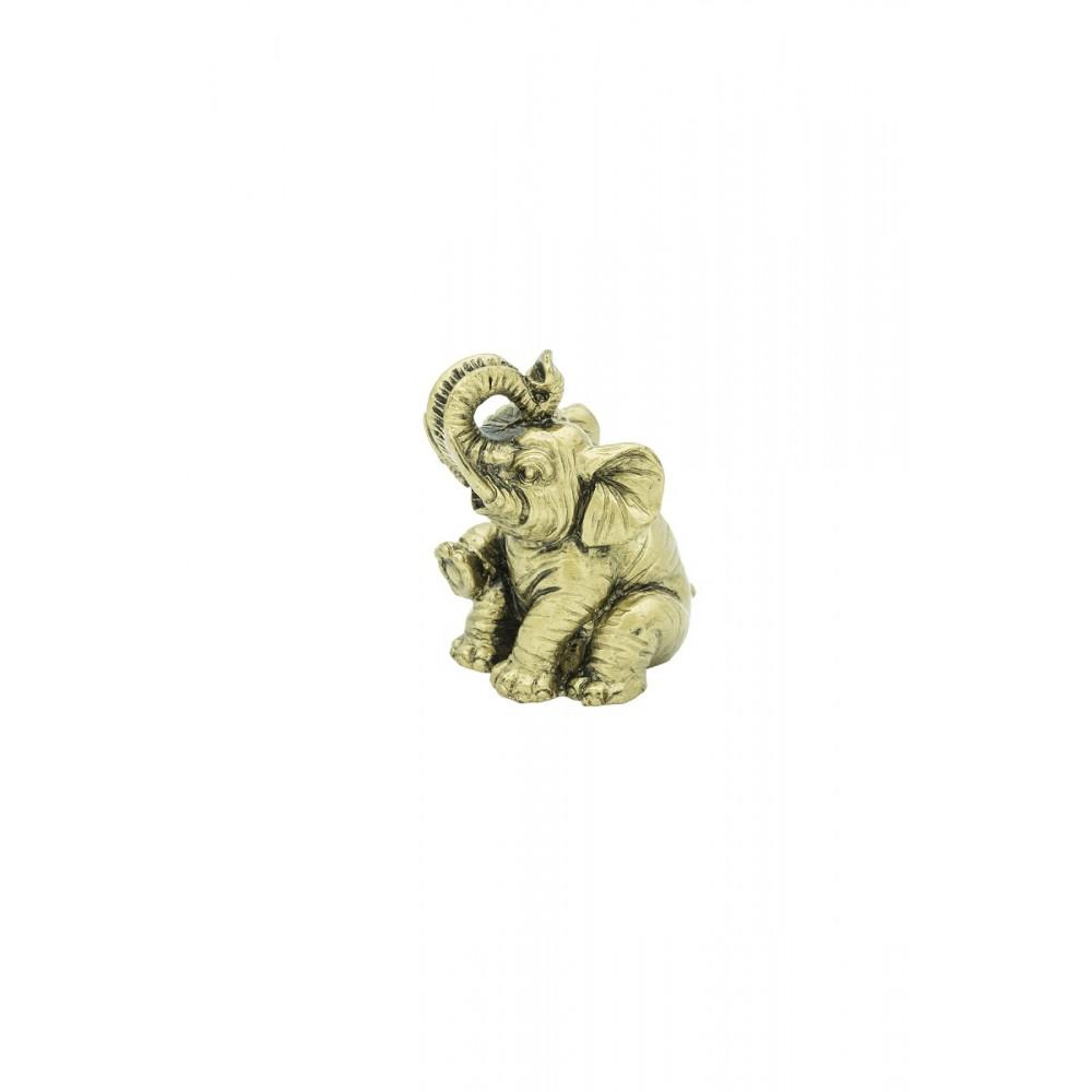 Статуэтка Слон с цветком смола